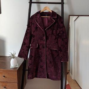 Arden B. Tapestry Coat in Merlot